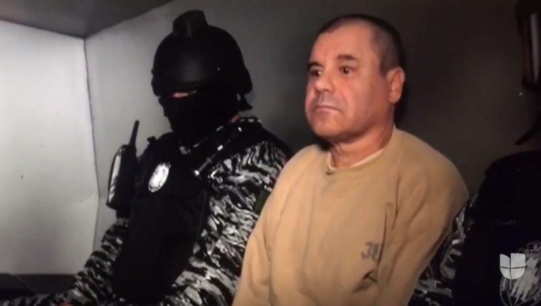 Captura de video publicado por Univisión Investiga sobre el traslado del Chapo Guzmán de la cárcel del Altiplano hacia una en Ciudad Juárez, en mayo de 2016.