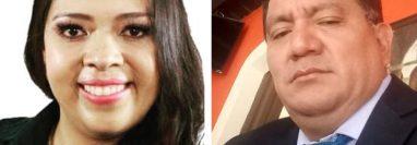 Gabriela Meléndez y Sebastián Cucul, excandidatos a cargos por el partido Podemos.