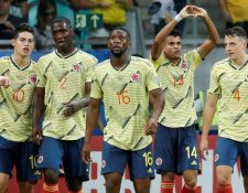 Colombia avanzó a cuartos de final en primer lugar con una puntuación perfecta. (Foto Prensa Libre: AFP).