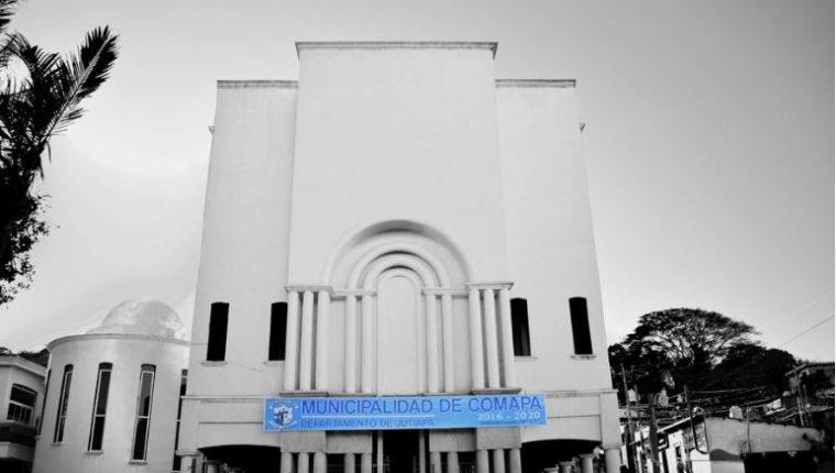 La municipalidad de Comapa en Jutiapa. (Foto Prensa Libre: municopama)