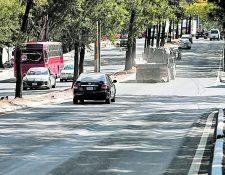 Desde la semana pasada se observó menos tránsito en la metrópoli, según autoridades de tránsito. (Foto Prensa Libre: Hemeroteca PL)