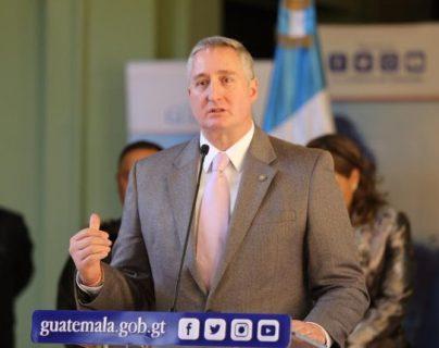 Enrique Degenhart, ministro de Gobernación.