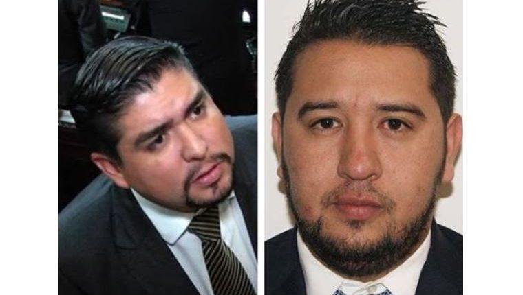 Óscar Quintanilla y Jorge Arévalo Canales, diputados electos para representar a Quiché. (Foto Prensa Libre: Héctor Cordero)