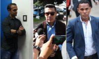 José Manuel Contreras, Luis Tatuaca y Kenny Cunningham acudieron este lunes a la Anado por el tema de dopaje. (Fotos Prensa Libre: Francisco Sánchez).