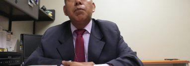 El fiscal José Rafael Curruchiche Cucul evitó pronunciarse en relación a las pesquisas en su contra. (Foto Prensa Libre: Kenneth Monzón)