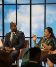 Foro sobre emprendimiento femenino y cómo conectar globalmente que se llevó a cabo en el GES 2019. (Foto Prensa Libre: Cortesía GES 2019)