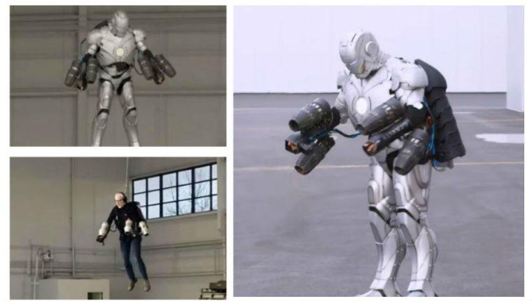 El traje al estilo Iron Man permite volar 4.5 metros sobre el suelo. (Foto Prensa Libre: Hemeroteca PL)