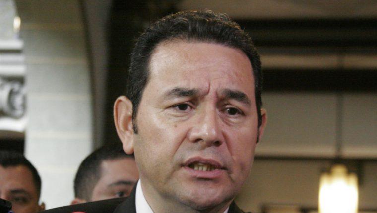 Jimmy Morales anhela la transparencia en el Gobierno.(Foto Prensa Libre: María Reneé Barrientos)