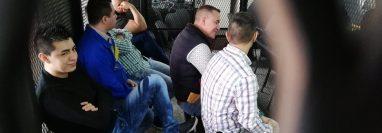 Integrantes de la banda denominada Los Tumbadores enfrentan debate por el crimen de un candidato a alcalde en 2015. (Foto Prensa Libre: Kenneth Monzón)