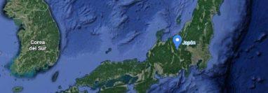 Alerta de tsunami tras un poderoso sismo en el noroeste de Japón. (Foto Prensa Libre: Google Maps)