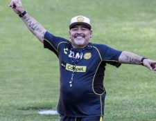 Diego Armando Maradona, exentrenador de los Dorados de Sinaloa. (Foto Prensa Libre: Hemeroteca PL)