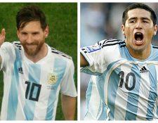 Lionel Messi y Juan Román Riquelme cumplen años el 24 de junio. (Foto Prensa Libre: Hemeroteca PL)