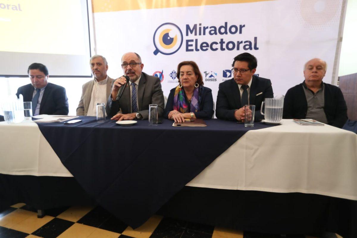 Gastos de campaña excesivos y conflictividad en el proceso electoral reporta Mirador electoral