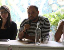 Conferencia de prensa con el cineasta CéŽsar Díaz. (Foto Prensa Libre: Raúl Juárez)