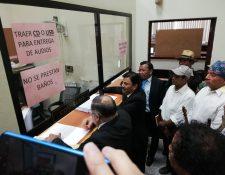 Querellantes en el caso de genocidio accionan contra la jueza Claudette Domínguez. (Foto Prensa Libre: Kenneth Monzón)