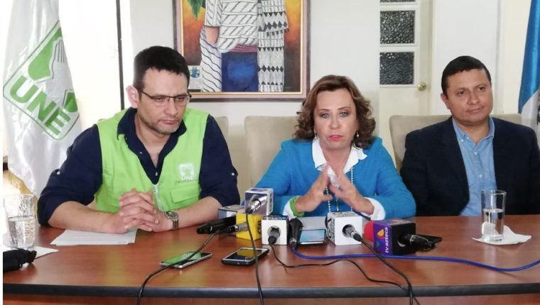 La candidata presidencial por la UNE, Sandra Torres. (Foto Prensa Libre: Érick Ávila)