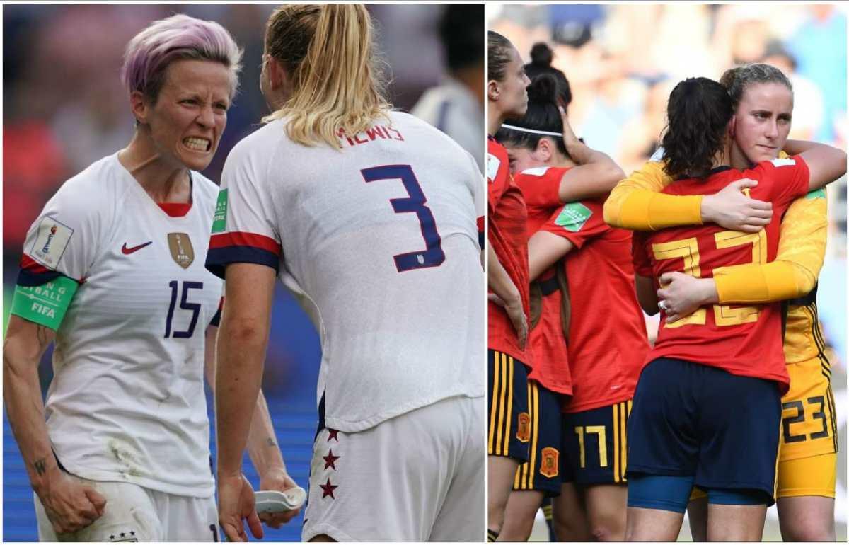 Estados Unidos elimina a España gracias a dos penaltis anotados por Rapinoe