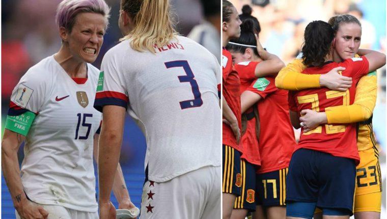 Estados Unidos sufrió para dejar en el camino a España en la ronda de octavos de final. (Foto Prensa Libre: AFP).