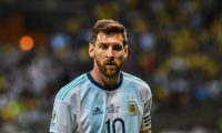 Argentina's Lionel Messi is pictured during the Copa America football tournament semi-final match against Brazil at the Mineirao Stadium in Belo Horizonte, Brazil, on July 2, 2019. (Photo by Nelson ALMEIDA / AFP)