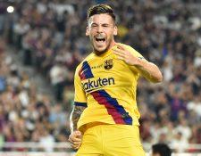 Con doblete del canterano Carles Perez el Barcelona superó 2-0 al Vissel Kobe de Japón. (Foto Prensa Libre: AFP)