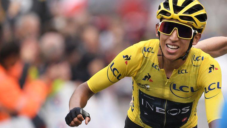 Egan Bernal se encuentra cerca de ganar el Tour de Francia. (Foto Prensa Libre: AFP)