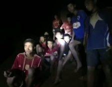 Los niños quedaron atrapados junto con su entrenador el 23 de junio de 2018 y recién fueron hallados el 2 de julio. ROYAL THAI NAVY