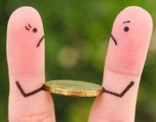 Las peleas sobre dinero a menudo terminan en ruptura...