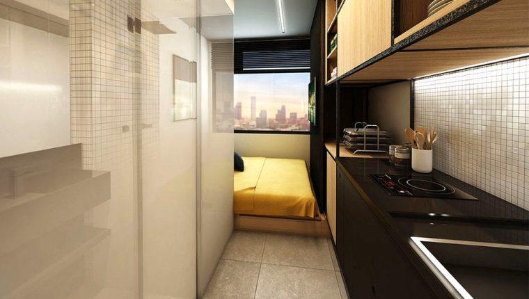 La empresa brasileña Vitacon asegura que sus apartamentos de 10 m2 son los más pequeños de América Latina.