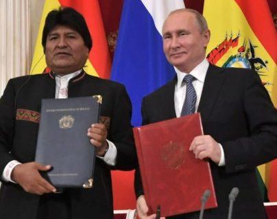 Evo Morales visitó a Vladimir Putin en Moscú.
