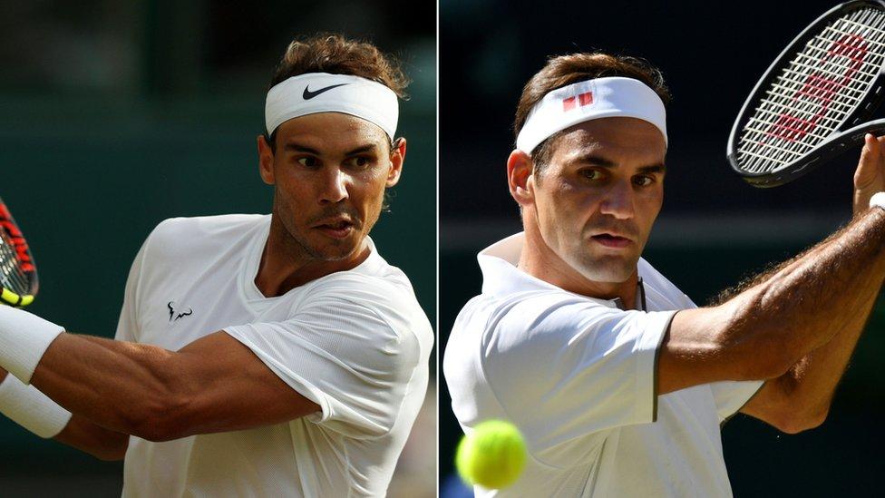 Nadal vs Federer en Wimbledon: la rivalidad entre los dos grandes campeones del tenis en números