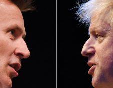 Este martes se sabrá si Jeremy Hunt (izquierda) o Boris Johnson será el nuevo primer ministro de Reino Unido.