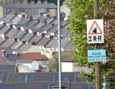 En las calles de Londonderry (o Derry) se pueden ver pintadas o carteles a favor del IRA.
