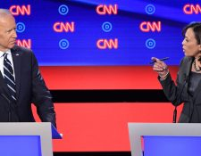 Harris volvió a poner a Biden en el centro de sus cuestionamientos. GETTY IMAGES