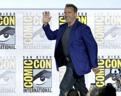 """Arnold Schwarzenegger conquistó la Comic-Con de San Diego, con """"Terminator: Dark Fate"""", la última entrega de esta saga de ciencia-ficción. (Foto Prensa Libre: AFP)"""