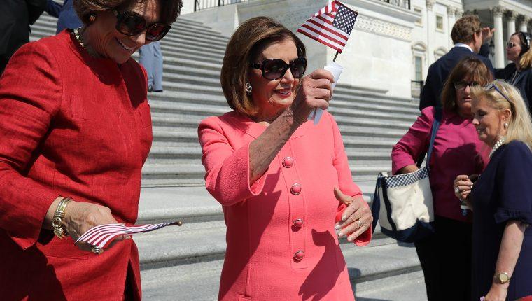 Nancy Pelosi es una experimentada de la política estadounidense y mantiene una férrea oposición a Trump. (Foto Prensa Libre: AFP)