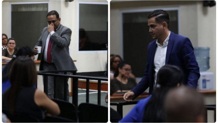 Samuel Morales y José Manuel Morales durante la audiencia. (Fotos Prensa Libre: Óscar Rivas).