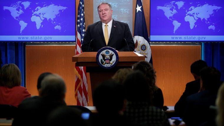 Mike Pompeo, Secretario de Estado de EE. UU. estará en la región el próximo 21 de julio. (Foto Prensa Libre: EFE)