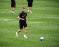 MIA28. MONTREAL (CANADÁ), 11/07/2019.- El delantero del Real Madrid Gareth Bale participa durante un entrenamiento en las instalaciones del Montreal Impact este jueves en Montreal (Canadá). EFE/Johany Jutras