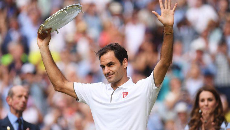 Roger Federer se quedó con el segundo lugar de Wimbledon. (Foto Prensa Libre: EFE)