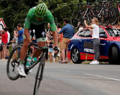 El eslovaco Peter Sagan ha sido uno de los ciclistas más aplaudido por los aficionados. (Foto Prensa Libre: EFE)