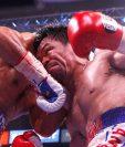 Manny Pacquiao frente a Keith Thurman en una pelea que fue muy esperada. (Foto Prensa Libre: EFE)