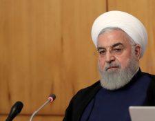 El Presidente de Irán, Hassan Rouhani durante una reunión con el Gabinete de Gobierno. (Foto Prensa Libre: EFE)