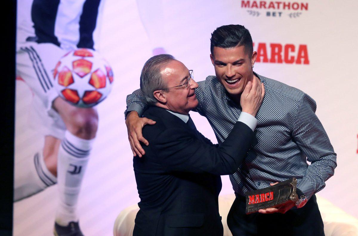 Así fue el reencuentro entre Cristiano Ronaldo y Florentino Pérez