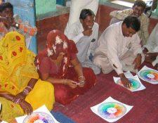Reunión de habitantes en Gorigama, estado de Bihar, India.