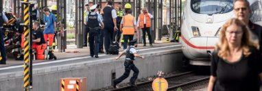 Emergencia en estación central de trenes de Fráncfort del Meno.