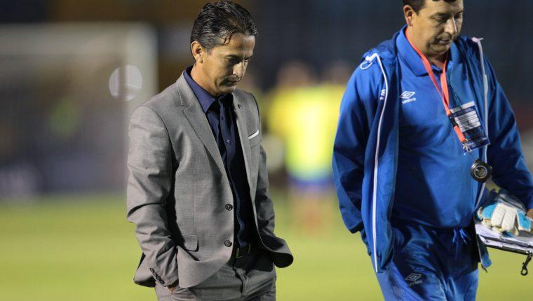 Érick González, técnico de la Sub 23 de Guatemala, después del juego. (Foto Prensa Libre: Francisco Sánchez)