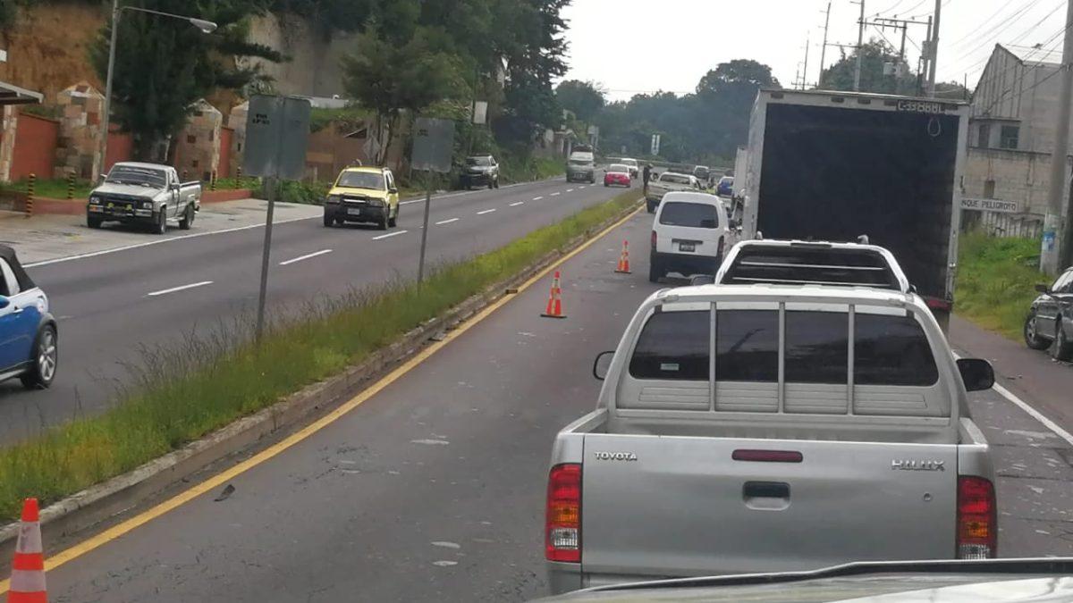 Accidente complicó tránsito en el km 35 de la ruta Interamericana hacia la capital