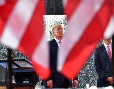 Donald Trump pronunció su discurso por el aniversario de la Independencia de EE. UU. (Foto Prensa Libre: AFP)