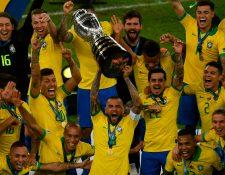La Selección de Brasil se coronó en casa en la Copa América. (Foto Prensa Libre: AFP)
