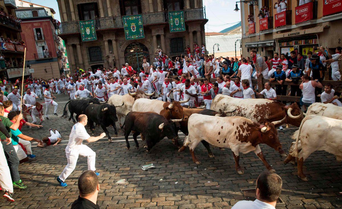 Fotogalería: segundo día del Festival San Fermín en Pamplona.